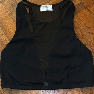 Out from under mess black crop top Size L EUC